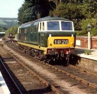 Hymek D7029 stands at Grosmont in August 1981. <br><br>[Colin Alexander&nbsp;/08/1981]