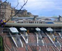West end of Waverley on 18 March 2008 with refurbished canopies now in place over platforms 13 - 19 and a leftover from the Hogmanay street party in the tree. <br><br>[F Furnevel&nbsp;18/03/2008]