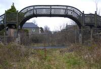 Dunfermline relic. Phoenix Lane footbridge on 7 March 2008, standing west of the site of Dunfermline Upper station on the former route to Alloa.<br><br>[Bill Roberton&nbsp;07/03/2008]