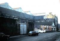 View of Leith Central from Duke Street in 1985.<br><br>[David Panton&nbsp;//1985]
