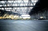Looking out from the concourse at Leith Central in November 1985.<br><br>[David Panton&nbsp;/11/1985]