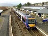 170 401 is the first train allowed through to Inverness after some serious flooding north of Kingussie on 28 January 2008.<br><br>[John Gray&nbsp;28/01/2008]