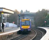 Forlorn appeal from a disappointed late passenger as a First ScotRail Turbostar leaves Inverkeithing for the south.<br><br>[Brian Forbes&nbsp;//2007]