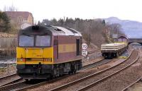 60062 and 66040 on track renewal duty at Larbert on 22 March 2008.<br><br>[Bill Roberton&nbsp;22/03/2008]