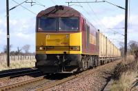 60062 on the empty <I>Binliner</I> containers approaching St Germains LC on 24 March on the way back from Oxwellmains to Powderhall.<br><br>[Bill Roberton&nbsp;24/03/2008]