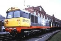 58001 posing for PR stills at Doncaster in 1990.<br><br>[Ian Dinmore&nbsp;//1990]