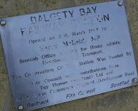 Commemorative plaque on display at Dalgety Bay station on 27 March 2008. Over the ten years since the station opened the car park has been increased in size, platforms lengthened, CCTV put in, ticket issuing machines installed, waiting areas improved....  not bad for a station BR didnt seem to want!<br> <br> <br><br>[Bill Roberton&nbsp;27/03/2008]