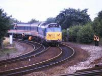 <I>Atlantic Coast Express</I> railtour derailed on the climb to Exeter Central in 1993.<br><br>[Ian Dinmore&nbsp;//1993]