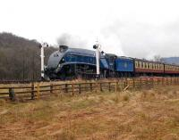 60007 <I>Sir Nigel Gresley</I> leaving Levisham on 30 March 2008 with a train on the NYMR.<br><br>[Peter Todd&nbsp;30/03/2008]