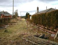 Site of the old station at Westfield (closed to passengers in 1930), seen on 25 March looking towards Blackston from the former level crossing.<br><br>[Craig Seath&nbsp;25/03/2008]