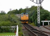 Last train of the day arriving at Boness behind loco 27001.<br><br>[Brian Forbes&nbsp;//2007]