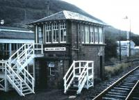 The signal box at Mallaig Junction (since renamed Fort William Junction) photographed in September 1987.<br><br>[David Panton&nbsp;/09/1987]