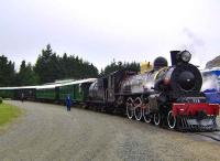 A New Zealand AB Pacific locomotive leaving Fairlight on 11 March 2008 with <i>The Kingston Flyer</i> excursion.<br><br>[Brian Smith&nbsp;11/03/2008]
