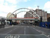 New bridge which will carry the East London Line extension over Shoreditch High Street. <br><br>[Michael Gibb&nbsp;16/04/2008]
