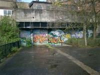 Glasgow Central Railway. Kelvin Bridge to Botanic Gardens tunnel, bricked up entrance.<br><br>[Alistair MacKenzie&nbsp;24/04/2008]