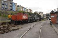 Sidings and stock at the Bristol Industrial Railway headquarters.<br><br>[Peter Todd&nbsp;25/04/2008]