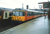A 303 service to Carstairs stands at Partick in July 1997.<br><br>[David Panton&nbsp;/07/1997]