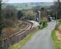 Lealholm looking to Battersby. Paddy Waddells partly finished railway joined the line some distance behind the camera having crossed the high ground to the right.<br><br>[Ewan Crawford&nbsp;03/04/2008]