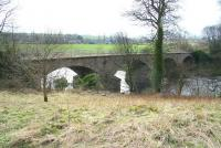 Old railway bridge over the River Tees near Gainford, County Durham, on the 1856 line west from Darlington towards Barnard Castle, photographed in April 2008. The bridge carried traffic on the Trans-Pennine route via Stainmore.<br><br>[John Furnevel&nbsp;04/04/2008]