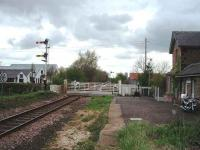 View from the old platform at Hessay (with permission) looking west towards Marston Moor, the distant for which is on the same post as the Hessay home signal. <br><br>[Mark Bartlett&nbsp;30/04/2008]