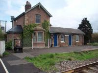 The station closed in 1958 and part of the building is a private house but the small office to the side is used by the signaller and the four lever frame and instruments can be seen on the platform.<br><br>[Mark Bartlett&nbsp;28/04/2008]