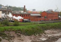 Peckett 0-6-0ST <I>Portbury</I> departs from the Cumberland Basin terminus of the Bristol Harbour Railway and Industrial Museum on 4 May. <br><br>[Peter Todd&nbsp;04/05/2008]