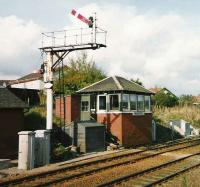 Newtonhill SB looking towards Aberdeen. October 1998.<br><br>[David Panton&nbsp;/10/1998]