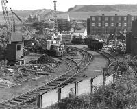 James A White (formerly T W Ward) scrapyard in the 1980s. The yard, served by a siding off the Rosyth branch, operated two John Fowler 0-4-0DM shunters.  This yard scrapped many ex-BR steam locomotives, including four of the Britannia Pacifics.<br><br>[Bill Roberton&nbsp;//]