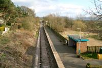 View over Great Ayton station on the Whitby branch on 3 April 2008 looking towards Battersby and the North York Moors. Sailor, explorer and navigator Captain James Cook was born here and attended the local school. <br><br>[John Furnevel&nbsp;03/04/2008]