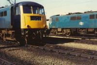 85007 and 82006 photographed in the yard at Kingmoor on 13 April 1981.<br><br>[Colin Alexander&nbsp;13/04/1981]