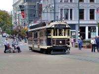 Tram 244 operating on a city tour in Christchurch, New Zealand, on 6 March 2008.<br><br>[Brian Smith&nbsp;06/03/2008]