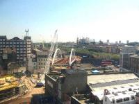 Work progresses on the East London Line extension. <br><br>[Michael Gibb&nbsp;08/05/2008]
