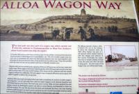 Part of the information board standing on the old wagonway route alongside the Station Hotel outlining the story of the Alloa Wagonway. March 2008.<br><br>[John Furnevel&nbsp;27/03/2008]