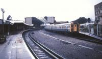 Limited stop service for Southampton and London Waterloo about to leave Bournemouth in 1991.<br><br>[Ian Dinmore&nbsp;//1991]