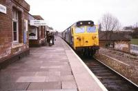 A class 50 brings a Paddington - Hereford service into Solihull in April 1980.<br><br>[Ian Dinmore&nbsp;/04/1980]