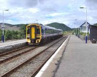 A service from the far north to Inverness calls at Rogart on 29 July 2007. <br><br>[Brian Smith&nbsp;29/07/2007]