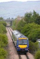 170 421 at Bridge of Earn on 13 May with the 0810 Edinburgh - Perth. This is one of several towns to the north of Scotlands central belt where reinstatement of rail links has become an issue.  <br><br>[Bill Roberton&nbsp;13/05/2008]