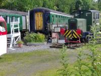 Part of the Frank Roach collection at Rogart station in July 2007. Items on display include camping coach accommodation marketed through <I>Sleeperzzz.com</I> <br><br>[Brian Smith&nbsp;29/07/2007]