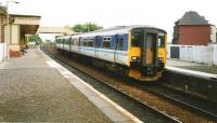 An outer Circle service arrives at North Queensferry in July 1994 formed by 150 262.<br><br>[David Panton&nbsp;/07/1994]
