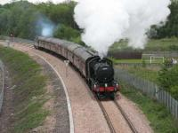 61994 leaving Alloa with the 1330 on 15 May.<br><br>[Mark Poustie&nbsp;15/05/2008]