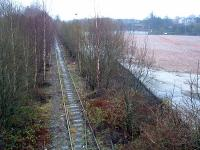 The site of the new Alloa station after demolition of the Alloa Brewery but before foliage clearance began on the railway.<br><br>[Ewan Crawford&nbsp;26/12/2002]