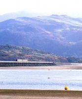 A 158 crosses Barmouth Viaduct over the Dovey Estuary in March 1989.<br><br>[Ian Dinmore /03/1989]