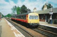 101 689 at Pollokshaws West on 2 June 1997 with a train for Barrhead.<br><br>[David Panton&nbsp;02/06/1997]