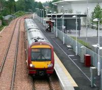 The 1141 service to Glasgow Queen Street leaves Alloa on 30 May 2008.<br><br>[John Furnevel&nbsp;30/05/2008]