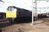Rat 129 with a freight arriving at Bescot yard in 1981<br><br>[Ian Dinmore&nbsp;//1981]