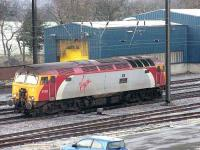 57302 <I>Virgil Tracy</I> passes Craigentinny wheel lathe heading for the <I>sub</I> in February 2007. At that time there were daily workings of <I>Thunderbirds</I> to Craigentinny.<br><br>[Mark Poustie&nbsp;08/02/2007]
