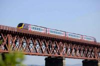 Arriva CrossCountry liveried Voyager photographed on the Forth Bridge on 31 May 2008.<br><br>[Bill Roberton&nbsp;31/05/2008]