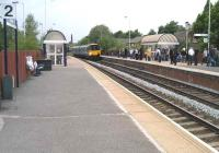 A Clitheroe - Manchester Victoria train runs into Darwen station on 17 May 2008.<br><br>[John McIntyre&nbsp;17/05/2008]