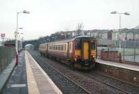 156 435 at Priesthill and Darnley in January 2008 with a service for Glasgow Central.<br><br>[David Panton&nbsp;12/01/2008]