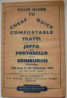 Pocket timetable for Joppa, Portobello and Edinburgh covering the Summer of 1962. (Closed 1964). <br><br>[David Panton&nbsp;//1962]